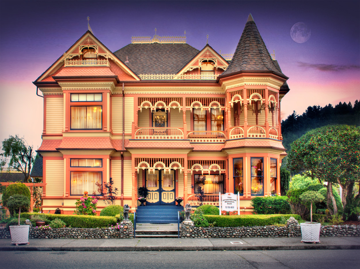 gingerbread mansion inn in ferndale  california